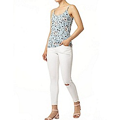 Dorothy Perkins - Blue botanical bling camisole top
