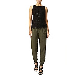 Dorothy Perkins - Black eyelash lace sequin top