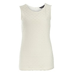 Dorothy Perkins - Tall: ivory crochet daisy shell top