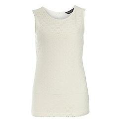 Dorothy Perkins - Tall: ivory crochet daisy shell top
