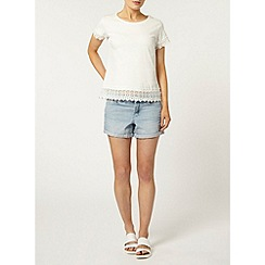 Dorothy Perkins - Ivory lace trim top
