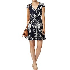Dorothy Perkins - Navy floral wrap dress