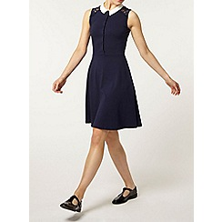 Dorothy Perkins - Navy lace insert collar dress