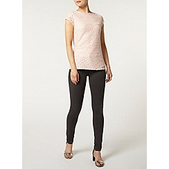 Dorothy Perkins - Blush bling lace t-shirt