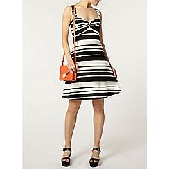 Dorothy Perkins - Black stripe twist dress