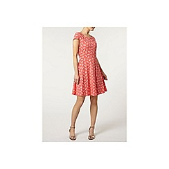Dorothy Perkins - Coral pineapple bow back dress