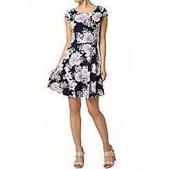 Dorothy Perkins - Navy floral bow back dress