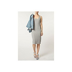Dorothy Perkins - Grey rib midi dress