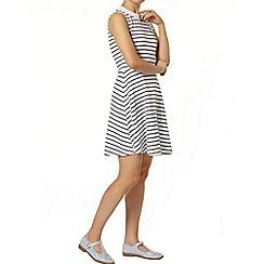 Dorothy Perkins - Stripe bling collar dress