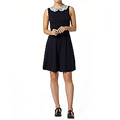Dorothy Perkins - Navy lace collar dress