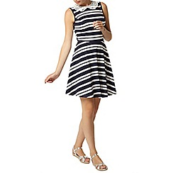 Dorothy Perkins - Stripe lace collar dress