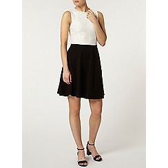 Dorothy Perkins - Black bling neckline dress