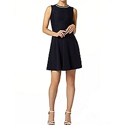 Dorothy Perkins - Navy bling neckline dress