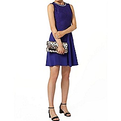 Dorothy Perkins - Blue bling neckline dress