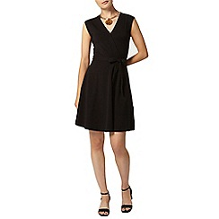 Dorothy Perkins - Black wrap tie waist dress