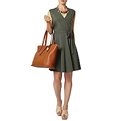 Dorothy Perkins - Khaki wrap tie waist dress
