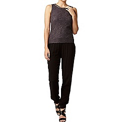 Dorothy Perkins - Charcoal bling lace shell top