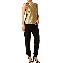 Dorothy Perkins - Gold sequin shell top