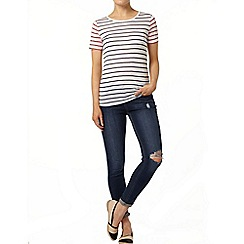 Dorothy Perkins - Ivory contrast stripe t-shirt