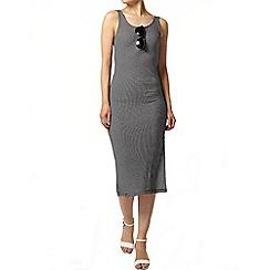 Dorothy Perkins - Navy stripe midi dress