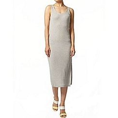 Dorothy Perkins - Grey stripe midi dress