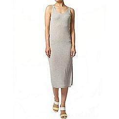 Dorothy Perkins - Grey stripe midi dress