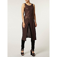 Dorothy Perkins - Chocolate shimmer tunic