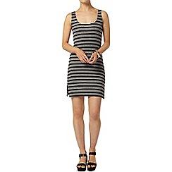 Dorothy Perkins - Black and grey stripe longline top