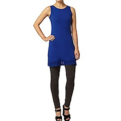 Dorothy Perkins - Blue lace trim tunic
