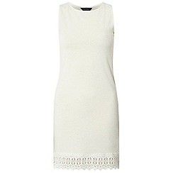 Dorothy Perkins - Tall ivory lace trim tunic