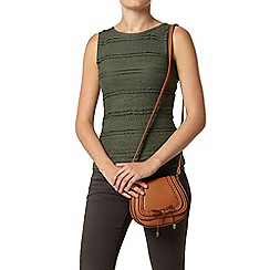 Dorothy Perkins - Khaki frill lace shell top