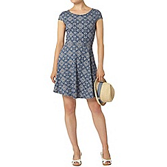 Dorothy Perkins - Cap sleeve tile bow back dress