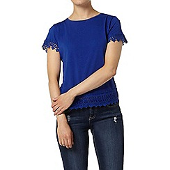 Dorothy Perkins - Cobalt lace trim top