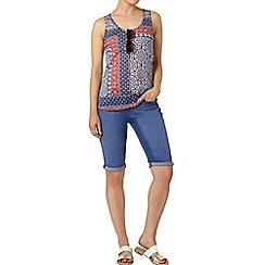 Dorothy Perkins - Blue tile print scoop vest