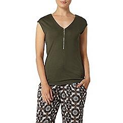 Dorothy Perkins - Khaki utility pocket t-shirt