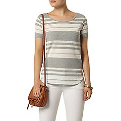 Dorothy Perkins - Grey stripe t-shirt