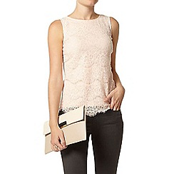 Dorothy Perkins - Blush eyelash sequin shell top