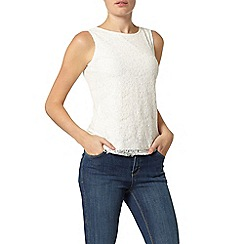 Dorothy Perkins - Ivory eyelash sequin shell top