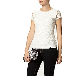 Dorothy Perkins - Ivory bling lace t-shirt