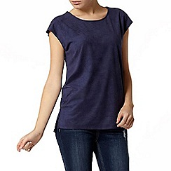 Dorothy Perkins - Navy suedette front t-shirt