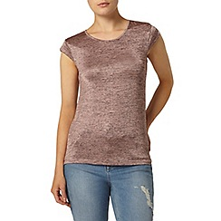Dorothy Perkins - Rose spacedye zip back t-shirt