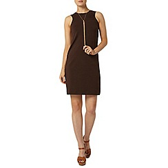 Dorothy Perkins - Chocolate suedette dress