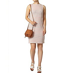 Dorothy Perkins - Pink textured stripe dress