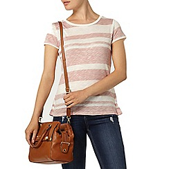 Dorothy Perkins - Rose zip and lace back t-shirt