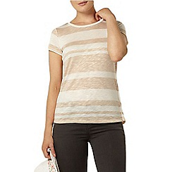Dorothy Perkins - Oat zip and lace back t-shirt