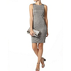 Dorothy Perkins - Silver tube back zip dress