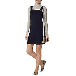 Dorothy Perkins - Navy button pinny dress