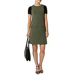 Dorothy Perkins - Khaki pocket shift dress