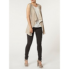 Dorothy Perkins - Gold waterfall cardigan