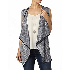 Dorothy Perkins - Blue metallic waterfall cardigan